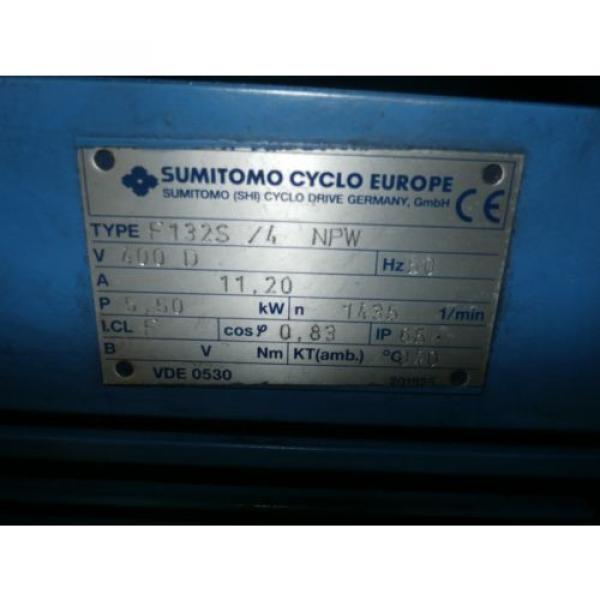 SUMITOMO CYCLO F132S/4 NPW, V 400D, HZ 50, A11,20; 5,50KW #2 image