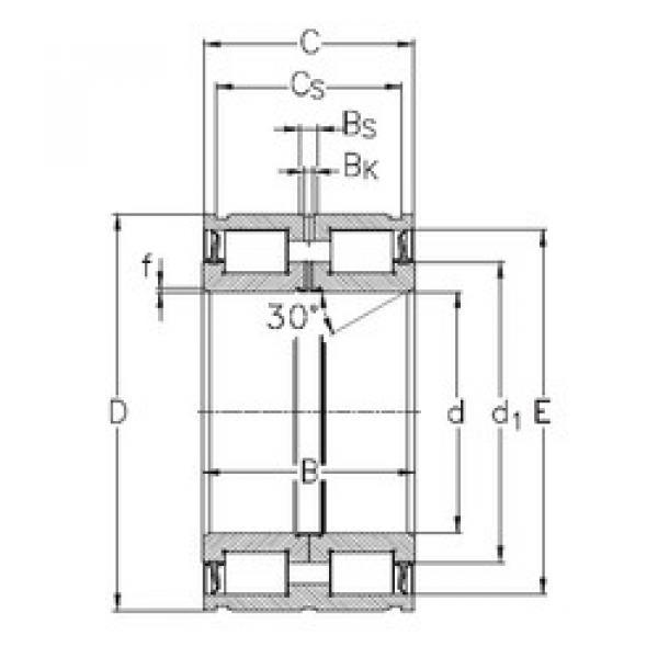 Cylindrical Roller Bearings NNF5015-2LS-V NKE #1 image