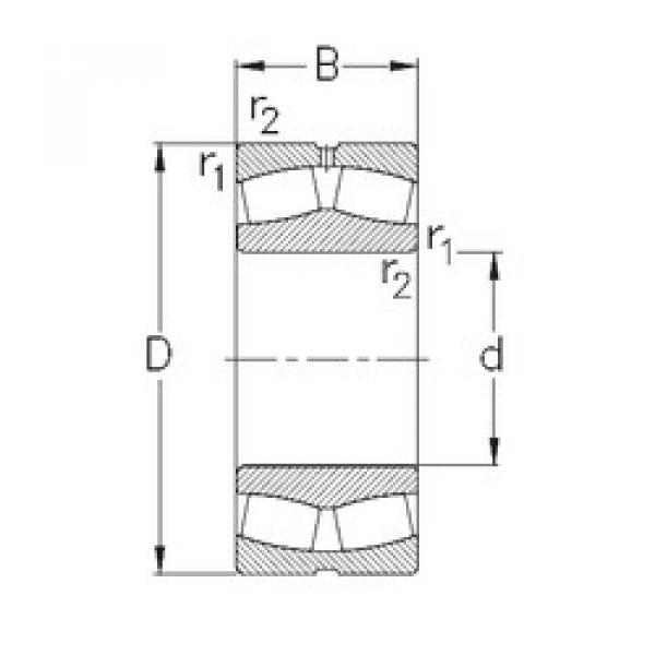 Bearing 249/1000-MB-W33 NKE #1 image