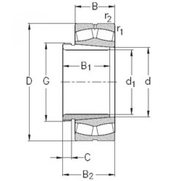 Bearing 239/670-K-MB-W33+AH39/670 NKE #1 image