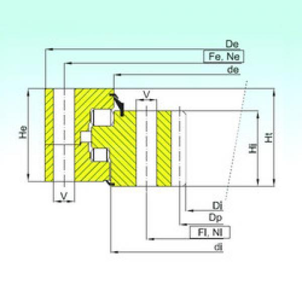 Thrust Roller Bearing ZR3.20.1800.400-1SPPN ISB #1 image