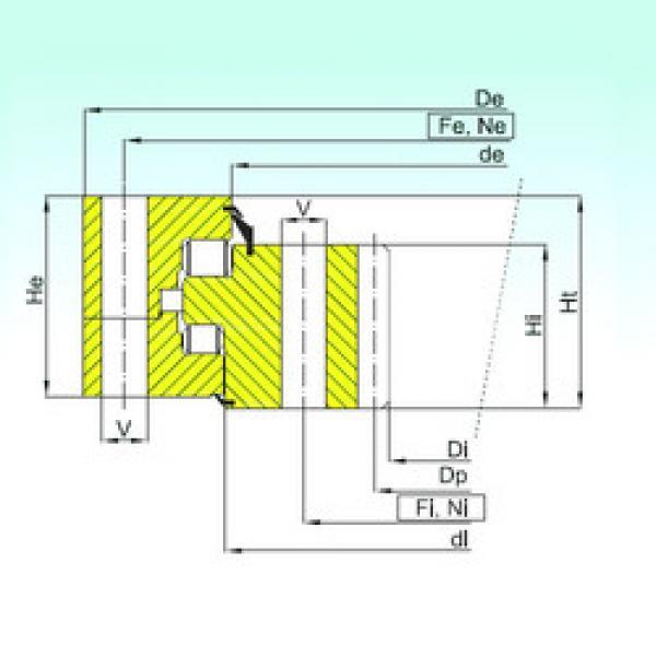 Thrust Roller Bearing ZR3.32.2800.400-1SPPN ISB #1 image