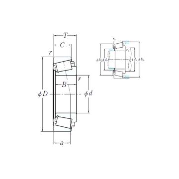 EE350750-N1/351687 NSK Cylindrical Roller Bearings #1 image