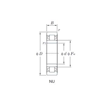 NU1016 KOYO Cylindrical Roller Bearings #1 image