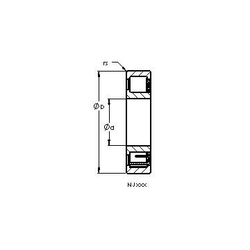 NJ2212 EFX AST Cylindrical Roller Bearings #1 image