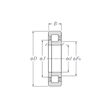 NUP222E CYSD Cylindrical Roller Bearings #1 image