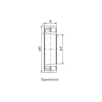 21318EX1K NACHI Cylindrical Roller Bearings #1 image