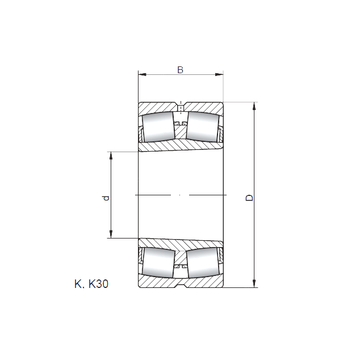 23972 KW33 ISO Spherical Roller Bearings #1 image