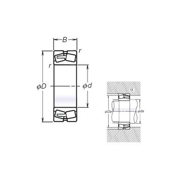 22310EVBC4 NSK Spherical Roller Bearings #1 image