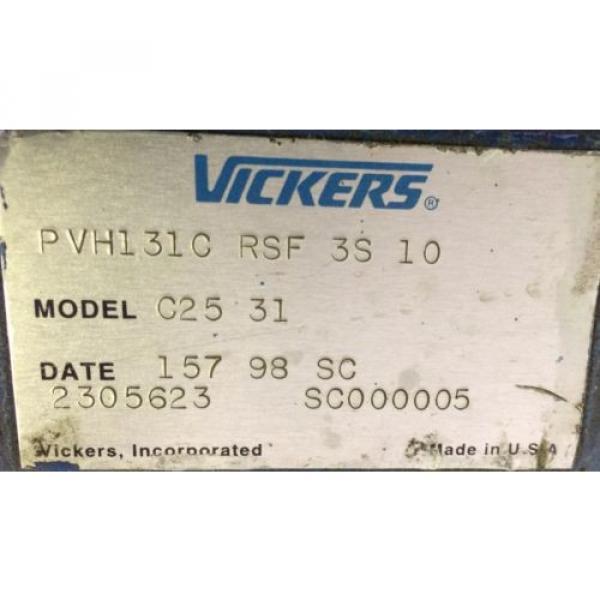 Rebuilt Suriname Vickers PVH131C RSF 3S 10 MODEL C25 31 W/ WARRANTY #2 image