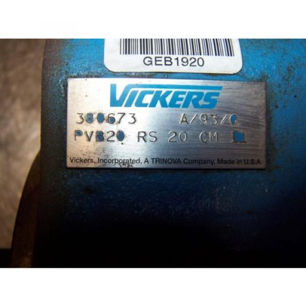 Origin Cuinea VICKERS VARIABLE DISPLACEMENT HYDRAULIC AXIAL PISTON PUMP PVB20-RS-20-CM-11 #2 image