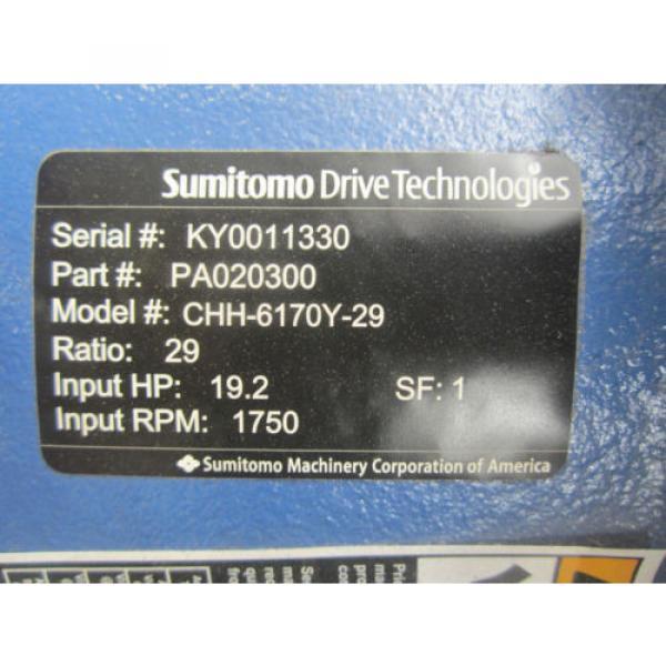 SUMITOMO CHH-6170Y-29 REDUCER #3 image