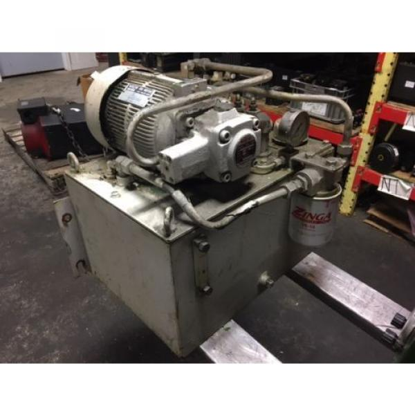 Nachi PuertoRico 2 HP 15kW Complete Hyd Unit, VDR-1B-1A2-21, UVD-1A-A2-15-4-1849A Used #1 image
