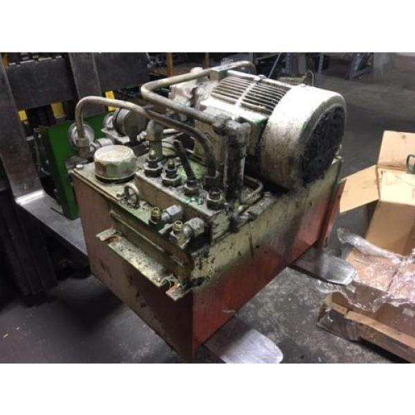 Nachi PuertoRico 2 HP 15kW Complete Hyd Unit, VDR-1B-1A2-21, UVD-1A-A2-15-4-1849A Used #2 image