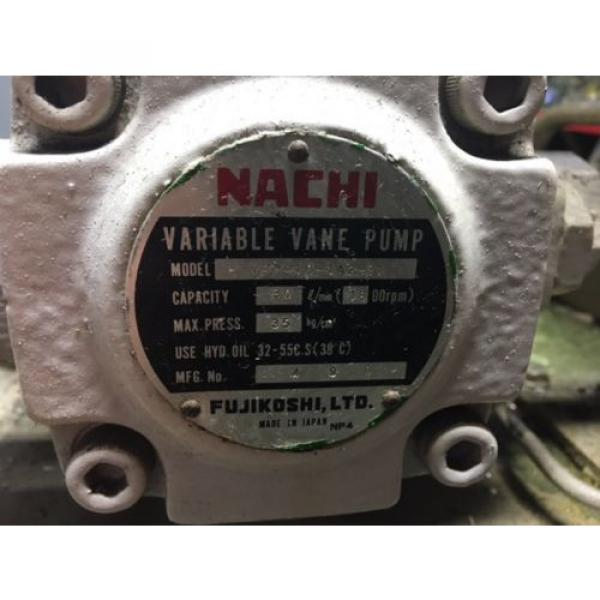 Nachi PuertoRico 2 HP 15kW Complete Hyd Unit, VDR-1B-1A2-21, UVD-1A-A2-15-4-1849A Used #3 image