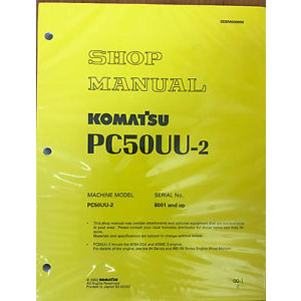 Komatsu Egypt  Service PC50UU-2 Excavator Shop Repair Manual #1 image