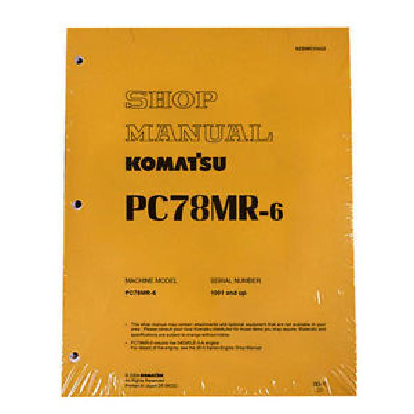 Komatsu Honduras  Service PC78MR-6 Excavator Shop Repair Manual #1 image
