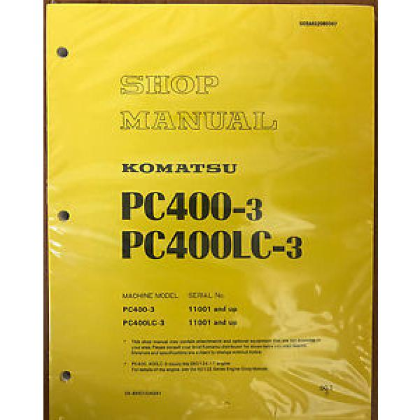 KOMATSU Hongkong  PC400-3 Excavator Crawler Shop Repair Manual Guide Book OEM Owners #1 image